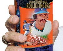 Products and packaging for Hall of Famer Rollie Fingers